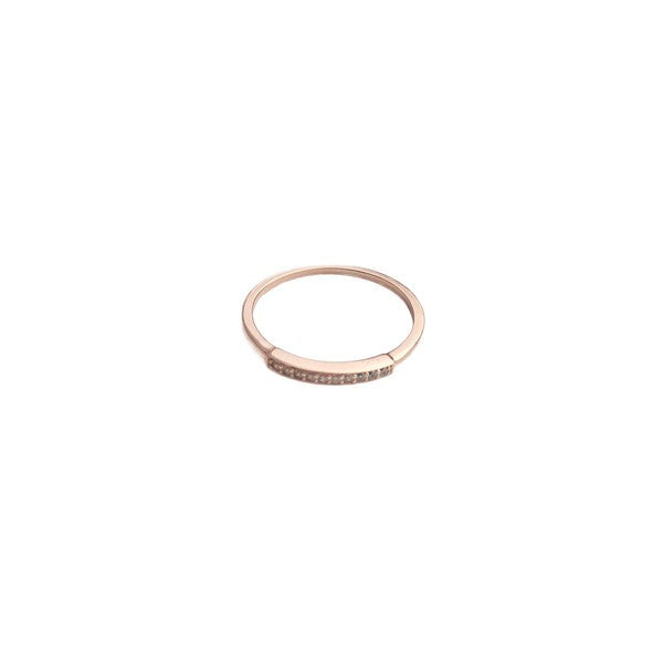 Rose Gold Crystal Band