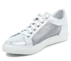 Image of VERSACE 1969  V ITALIA WOMEN'S LEATHER AND MESH LACE UP SNEAKERS