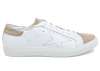 Image of VERSACE 1969  V ITALIA WOMEN'S LEATHER AND SUEDE LACE UP SNEAKERS
