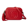 Image of Gucci Soho Leather Disco Bag Red