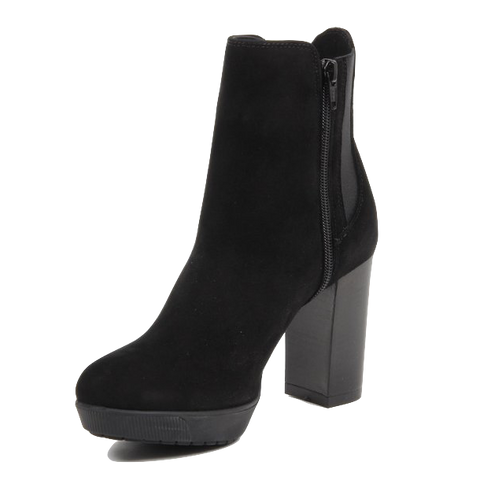 Versace 1969 V Italia Black Suede Ankle Boot