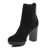 Image of Versace 1969 V Italia Black Suede Ankle Boot