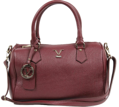 VERSACE 1969 V ITALIA Leather Bowler Tote Bag