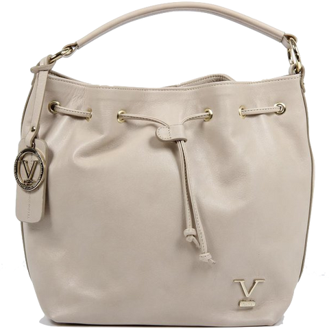 VERSACE 1969 V ITALIA Leather Shoulder Draw String Bag