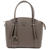 Image of VERSACE 1969 V ITALIA Leather Top Handle Tote Bag