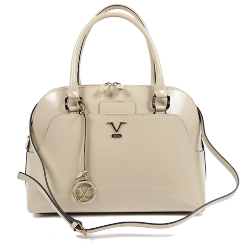 VERSACE 1969 V ITALIA Leather Top Handle Tote Bag