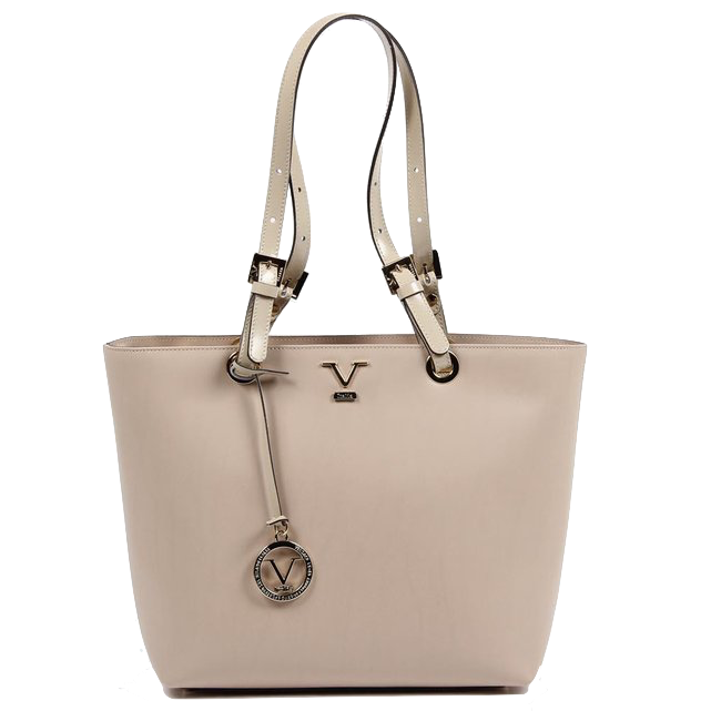04246f6230ee VERSACE 1969 V ITALIA Leather Tote Bag ...