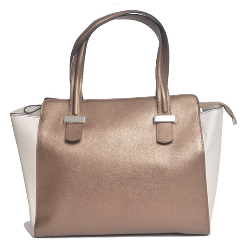 Lombardi L0019 Lussuria - Top Handle Bag - Bronzo Taupe - Blue Nero