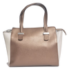 Image of Lombardi L0019 Lussuria - Top Handle Bag - Bronzo Taupe - Blue Nero