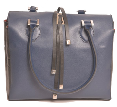 Lombardi Venere L0015 Venere Top Handle Bag - Blue Nero