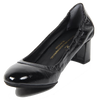 Image of VERSACE 1969  V ITALIA KITTEN HEEL PATENT LEATHER PUMPS
