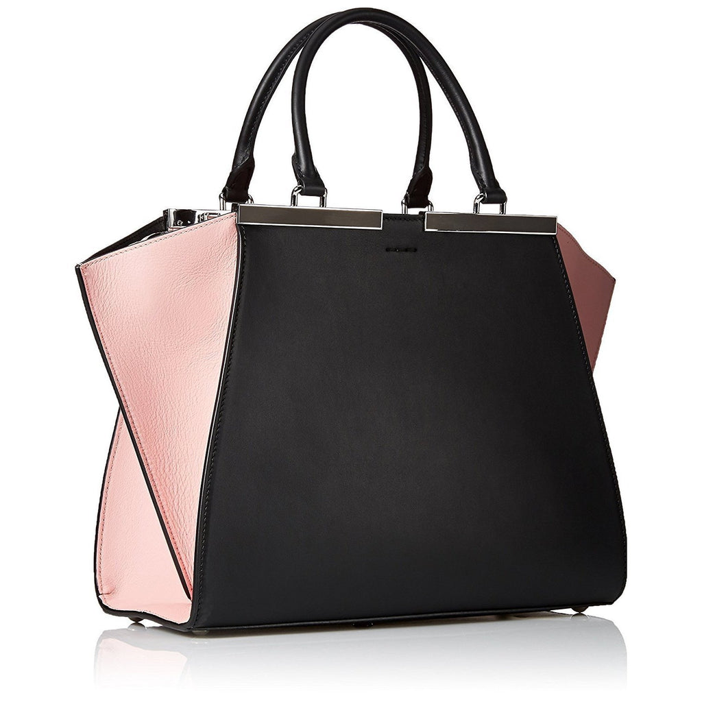 0f099df79890 FENDI 3 Jours Small Leather Shopper Handbag – Black   Pink – MIVESTI ...