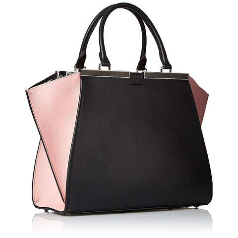 FENDI 3 Jours Small Leather Shopper Handbag – Black & Pink