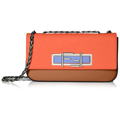 FENDI 3 BAGUETTE Light Red Leather Crossbody Bag – Light Red