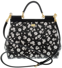 DOLCE & GABBANA TOP HANDLE MEDIUM SICILY HANDBAG IN DAUPHINE LEATHER