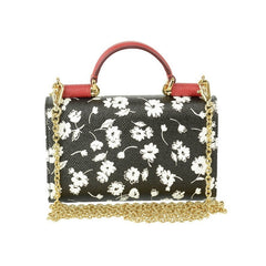 DOLCE & GABBANA FLORAL CLUTCH WITH SHOULDER STRAP HANDBAG