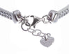 Image of MISS MISS ANTEPRIMA Sterling Silver White Leather Swarovski Crystals Bracelet