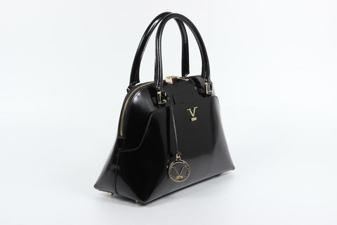 VERSACE 1969 V ITALIA Leather Top Handle Tote Bag - MilanoFashion56.com