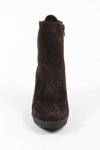 Versace 1969 V Italia Brown Suede Ankle Boot