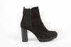 Image of Versace 1969 V Italia Brown Suede Ankle Boot