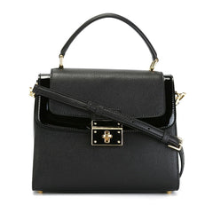 Dolce & Gabbana 'Greta' Black Leather Tote Handbag