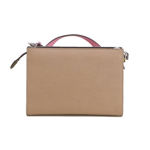 FENDI Small Demijour Tan Leather Shoulder Bag
