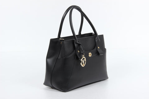 VERSACE 1969 V ITALIA Leather Tote Bag