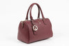 Image of VERSACE 1969 V ITALIA Leather Bowler Tote Bag - MilanoFashion56.com