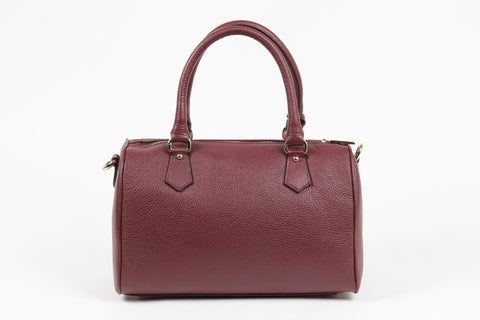 VERSACE 1969 V ITALIA Leather Bowler Tote Bag - MilanoFashion56.com