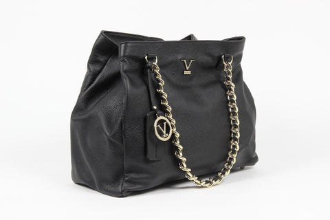 VERSACE 1969 V ITALIA Leather Shoulder Bag - MilanoFashion56.com