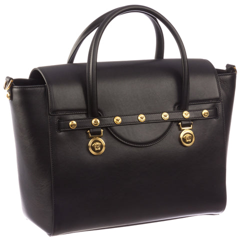 Versace Signature Lock Leather Handbag-DBFD705
