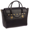 Image of Versace Signature Lock Leather Handbag-DBFD705