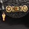 Image of Versace Signature Lock Leather Handbag-D410H