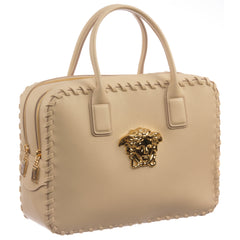 Versace Signature Medusa Lock Leather Handbag-K240H - MilanoFashion56.com