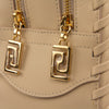 Image of Versace Signature Medusa Lock Leather Handbag-K240H