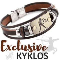 leather bracelet with zodiac sign capricorn leo aries libra free shipping to zodeys.com