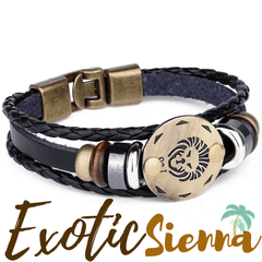 zodiac bracelet leather zodiac horoscope free shipping worldwide zodeys.com