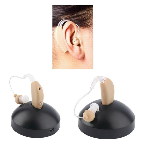 Mini In-ear Hearing Aid Care Invisible Deaf Volume Sound Amplifier Ear Aid Tone Rechargeable-Zodeys-SKIN COLOR-US PLUG-Zodeys