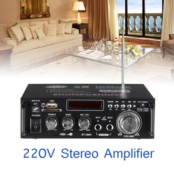 1600w Home Amplifiers Audio Bluetooth Amplifier Subwoofer Amplifier Home Theater Sound System Mini Amplifier Professional-Zodeys-Zodeys