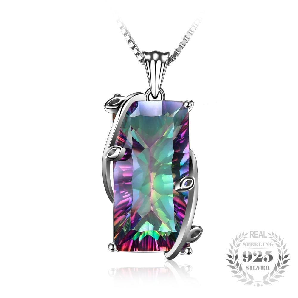 16Ct Rainbow Fire Mystic Topaz Silver Necklace Apparel & Accessories > Jewelry > Necklaces