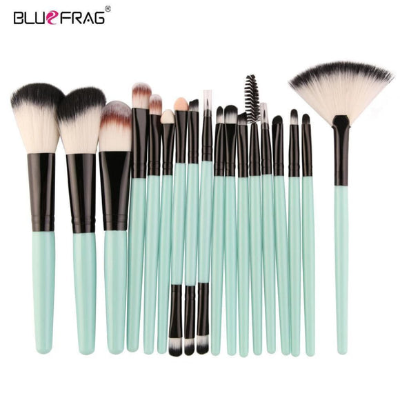 18 /15Pcs Full Professional Makeup Kit Set Makeup Brushes Powder Foundation Blush Eye Shadow Blending Make Up Brush Beauty Tools Health &