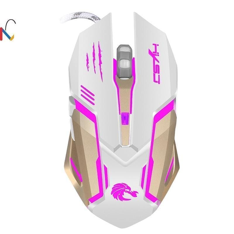 fa7df41068c 2.4G Adjustable Wired Mouse Gaming 2400Dpi 7 Buttons Optical Usb Wired Gaming  Game Mouse For