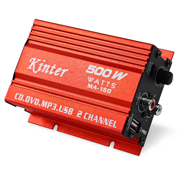 Kinter MA - 150 Mini 20W x 2 5V Hi-Fi Stereo Amplifier Booster DVD MP3 Speaker for Car Motorcycle