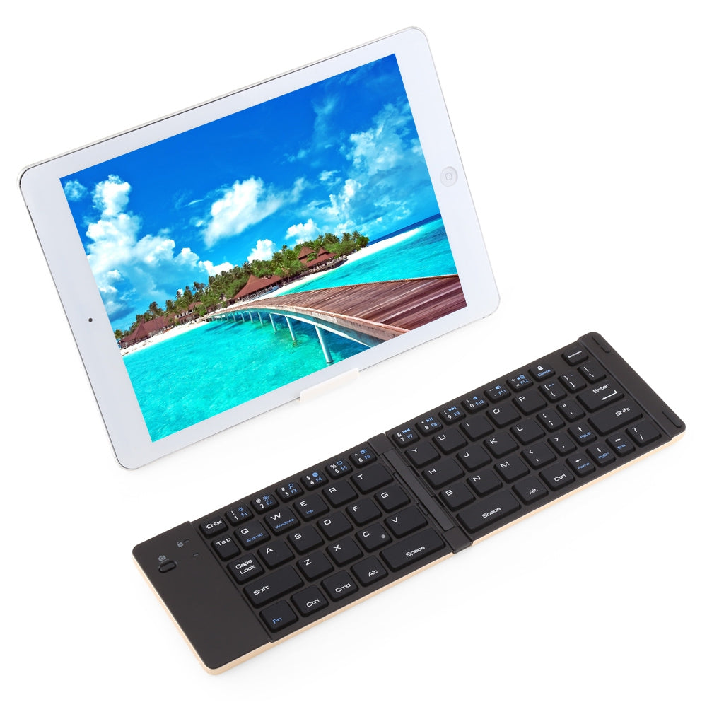 Roll Up Bluetooth Keyboard Android: F66 Multiple Mini Portable Folding Wireless Bluetooth 3.0 Keyboard Alu