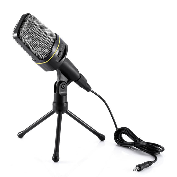 Yanmai Dynamic Condenser Sound Microphone with Stand Holder for MSN Skype