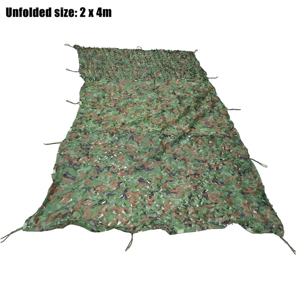 2M x 4M Woodland Military Hunting Camping Tent Car Cover Camouflage Net