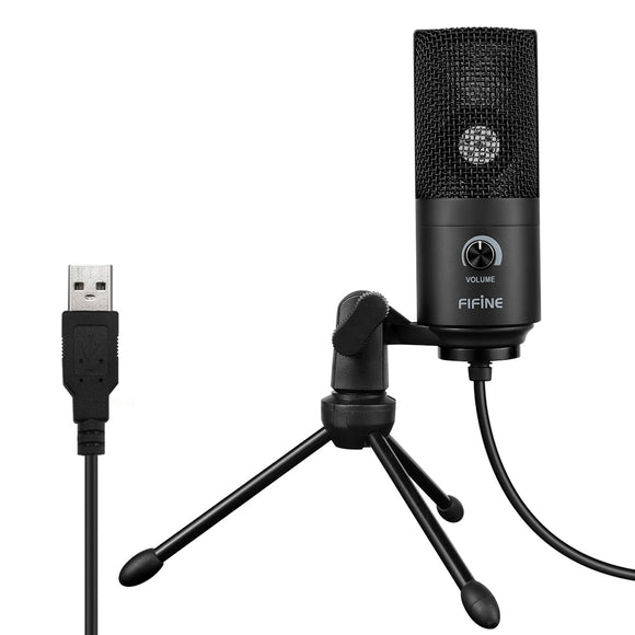 FIFINE K669 USB Wired Microphone with Recording Function for PC Laptop-Zodeys-BLACK-Zodeys