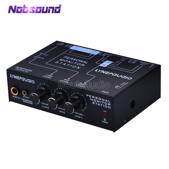 2018 Nobsound Mini 3 Channel Personal Monitor Station Audio Sound Amplifier Headset Listening Mixer-Zodeys-Zodeys