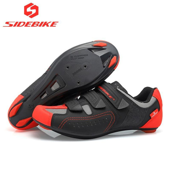 2018 sidebike cycling shoes road men racing road bike shoes self-locking atop bicycle speakers athletic ultralight professional-Shoes-Zodeys-Black-10-Zodeys
