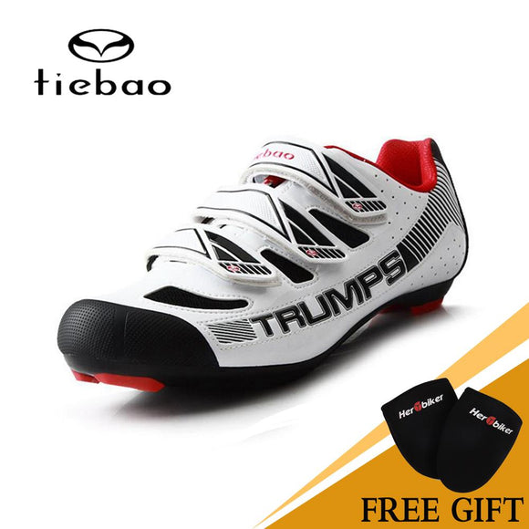 2018 TIEBAO Road Bike Shoes Professional Triathlon Riding Team Self-Locking Bike Road Riding Equipment Athletic Cycling Shoes-Shoes-Zodeys-Black-39-Zodeys